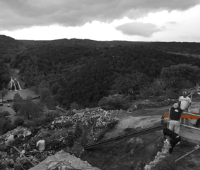 Zipline over Turner Falls in Davis, Oklahoma using Jacobson ready mixed concrete